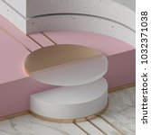 3d rendering  modern mock up ... | Shutterstock . vector #1032371038