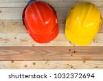 safety hardhat for construction ... | Shutterstock . vector #1032372694