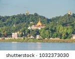 sagaing hill from ferry ... | Shutterstock . vector #1032373030