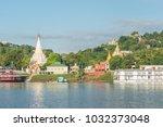 sagaing hill from ferry ... | Shutterstock . vector #1032373048