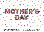 happy mother's day greeting... | Shutterstock .eps vector #1032378784