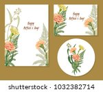 set of templates for mother's... | Shutterstock .eps vector #1032382714