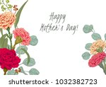 template for mother's day ... | Shutterstock .eps vector #1032382723