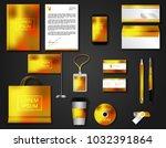 vector brochure  flyer  ... | Shutterstock .eps vector #1032391864