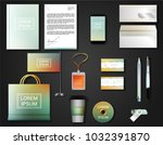 vector brochure  flyer  ... | Shutterstock .eps vector #1032391870