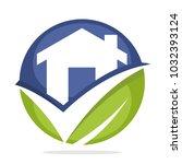 business logo icon construction ... | Shutterstock .eps vector #1032393124