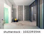 metal frames and plasterboard ...   Shutterstock . vector #1032393544