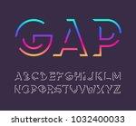 gap line bold vector modern... | Shutterstock .eps vector #1032400033