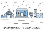 cultural city vector... | Shutterstock .eps vector #1032402223