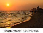 Shoreline Of Panama City Beach...