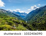 the stunning view of snow... | Shutterstock . vector #1032406090