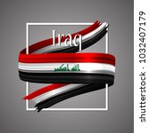 iraq flag. official national... | Shutterstock .eps vector #1032407179