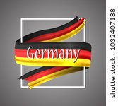 germany flag. official national ... | Shutterstock .eps vector #1032407188