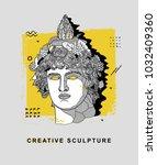 creative modern classical... | Shutterstock .eps vector #1032409360