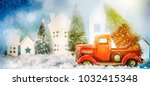 christmas and new year holiday... | Shutterstock . vector #1032415348