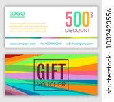 gift voucher template. vector...   Shutterstock .eps vector #1032423556
