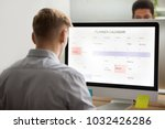 businessman planning his day... | Shutterstock . vector #1032426286
