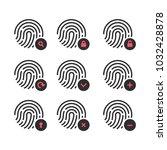 fingerprint icon.symbol for... | Shutterstock .eps vector #1032428878