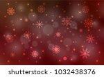 dark red vector pattern with... | Shutterstock .eps vector #1032438376