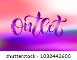 hand drawn promotional design... | Shutterstock .eps vector #1032442600