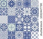 big set of tiles background.... | Shutterstock . vector #1032447730