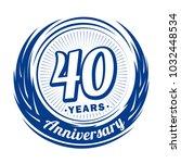 40 years anniversary.... | Shutterstock .eps vector #1032448534