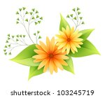 daisy flowers with green... | Shutterstock . vector #103245719