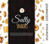 vector sketch snack banner card....   Shutterstock .eps vector #1032468439