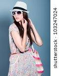 shot of a beautiful girl in... | Shutterstock . vector #103247024