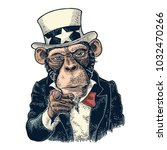 Monkey Uncle Sam With Pointing...