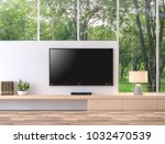 empty television screen with... | Shutterstock . vector #1032470539