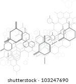 molecular background | Shutterstock .eps vector #103247690