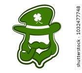 abstract leprechaun avatar | Shutterstock .eps vector #1032477748