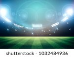 lights at night and stadium 3d... | Shutterstock . vector #1032484936