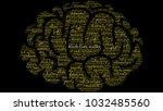 black lives matter word cloud... | Shutterstock .eps vector #1032485560