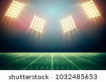 lights at night and stadium 3d... | Shutterstock . vector #1032485653