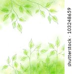 summer spring card with green... | Shutterstock . vector #103248659