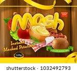 instant mashed potatoes. design ... | Shutterstock .eps vector #1032492793