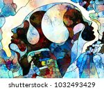 stained glass forever series.... | Shutterstock . vector #1032493429