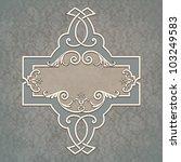 vintage border frame grunge... | Shutterstock . vector #103249583