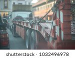 truck is waiting for loading... | Shutterstock . vector #1032496978