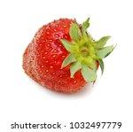 fresh red ripe strawberry... | Shutterstock . vector #1032497779