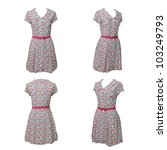 women's clothing isolated on... | Shutterstock . vector #103249793