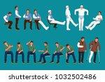 doctor patient set | Shutterstock .eps vector #1032502486