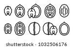 vector set of editable stroke... | Shutterstock .eps vector #1032506176