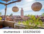 panoramic view of marrakesh and ... | Shutterstock . vector #1032506530