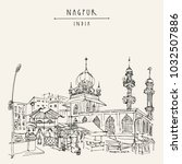 nagpur  maharashtra  india.... | Shutterstock .eps vector #1032507886