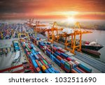 logistics and transportation of ... | Shutterstock . vector #1032511690