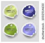 colorful label paper brush... | Shutterstock .eps vector #1032514633
