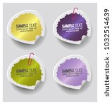 colorful label paper brush... | Shutterstock .eps vector #1032514639